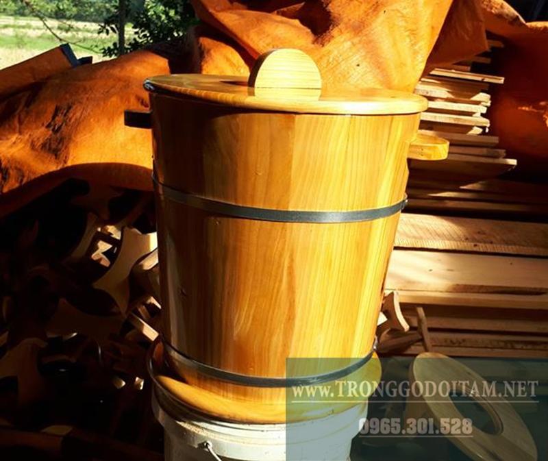 bán thùng gỗ đựng gạo loại đẹp