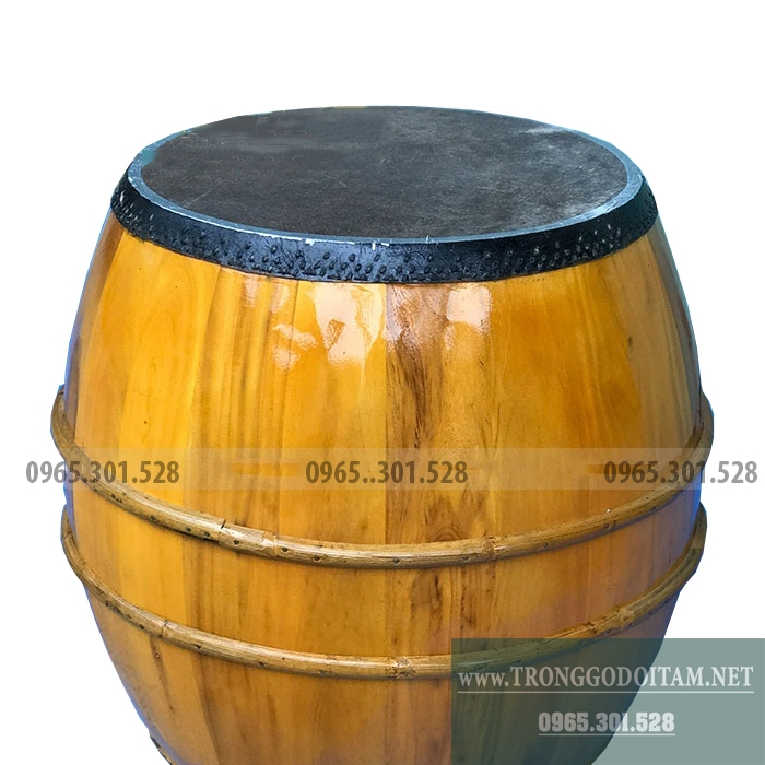 Trống gỗ mít da trâu đẹp