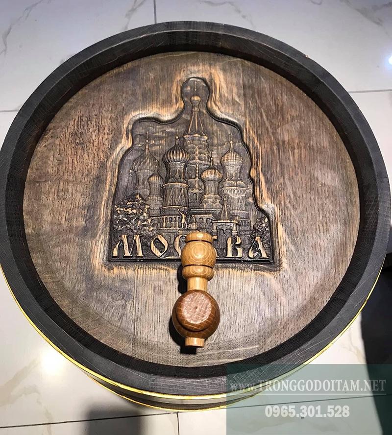 thùng đực rượu gỗ sồi van gỗ